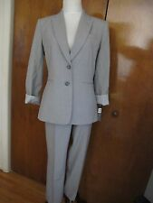 Tahari Asl Women's Heather Gray Pant Suit Set Size 2,8, 8P Retail Value $280 NWT