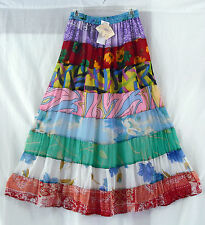 Long Tiered Skirt Sacred Threads   Sheer Tiered Rayon Lined 26506 One Sz  NWT