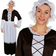 Adult Womens Ladies Victorian Maid Fancy Dress Costume Outfit Tudor Poor Book