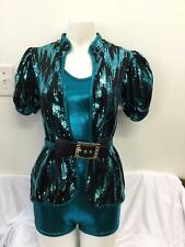 Dance Costume Adult Sizes Sequin Jacket Jazz Pink Blue Group Competition Tap