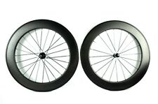 dimple wheel 80mm Clincher 25mm width 700C carbon road bike wheel light