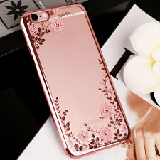 For Apple iPhone 5 5s SE Crystal Diamond Bling Back Case Silicone Bumper Cover