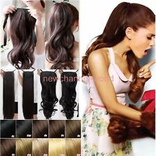 Real Thick Drawstring Ponytail Clip in Pony Tail Hair Extension Long remy style