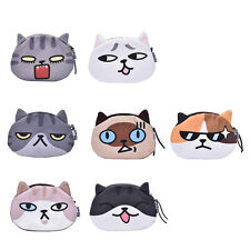 Children Gift Cat Face Coin Purse Kids Wallet Bag Change Pouch Key Holder JB
