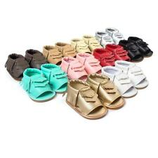 Baby Soft Sole Leather Shoes Infant Boy Girl Sandals Toddler Moccasin 0-18Months