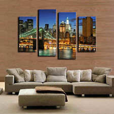 4Pcs Frameless Canvas Painting Pictures Freehand Sketching Art Decor Ornate Best