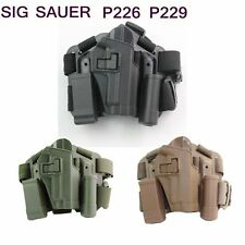 Military Duty Drop Puttee Thigh Leg Pistol Holster for SIG SAUER P226 P228 P229