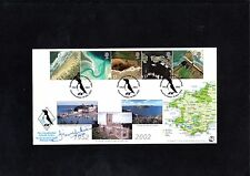 BRITAIN'S COASTLINE 2002 BRADBURY FDC SIGNED DILLWYN MILES - No5 of 210