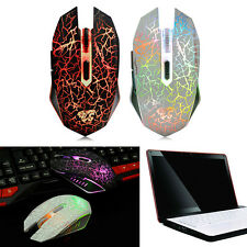 Wireless Gaming Mouse 2400DPI 7D Rechargeable 2.4GHz 6 Buttons Optical USB Mice