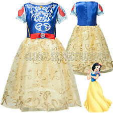 Girls Kids Snow White Fancy Dress Up Costume Fairy Princess Outfit Gifts Age 3-7
