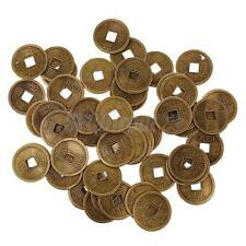 50x Bronze Alloy Copper Cash Coins Charms Pendants for Jewelry Crafts 14/20/28mm