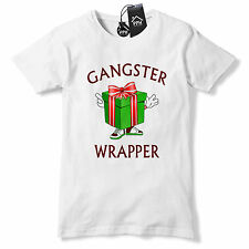 Gangster Wrapper Funny Christmas Present Tshirt Rap Music Dope Festive Tee CH36