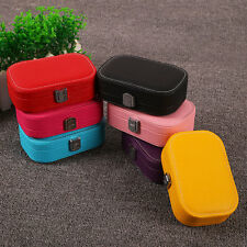 Fashion Leather Jewelry Mirror Earring Container Organizer Storage Box