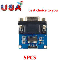 Durable 1*5pcs MAX3232 RS232 Serial Port To TTL Converter Module DB9 Connector ~