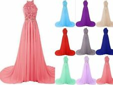 Bridesmaid Prom Dresses Long Chiffon Party Evening Formal Gown Stock Size 6-18