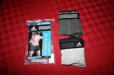 2 MENS ADIDAS TRUNKS CLIMALITE ATHLETIC STRETCH DARK & LT GRAY SMALL NWOT