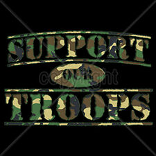 Support Our Troops Camo Soldier Army Navy Air Force Marines T-Shirt Tee