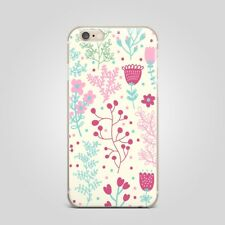 Art Design Floral Flower TPU Rubber Silicone Clear Cover Case Back For iPhone