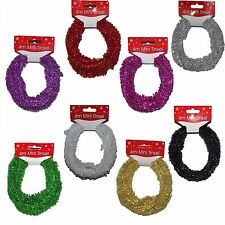 Christmas Decoration 4 Metre Mini Rope Tinsel Garland - Choose Colour