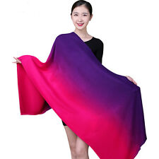 Women Cashmere Pashmina Gradient Color Multi-functional Buttons Shawl Scarf Wrap