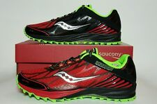 SAUCONY MEN'S PEREGRINE 4 RED/BLACK/GREEN NEW/BOX MULTIPLE SIZES  20230-2