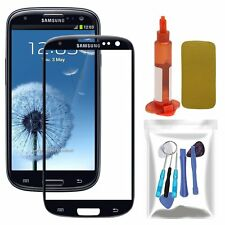 Black Outer Screen Glass Lens Replacement Tool Kit/UV Glue For Samsung Galaxy S3