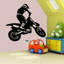 Motorcross Vinyl Wall Decal Sticker Dirt Bike Boys Bedroom Gear MX Decor