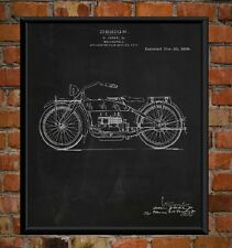 1919 Harley Davidson Prints on Fine Art Canvas Xmas Christmas Gifts Wall Posters