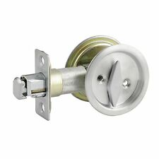 Lane SLIDING CAVITY DOOR LOCK SET Push Button Latch - Satin Or Polished Chrome