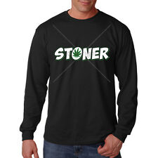 Stoner Pot Leaf Marijuana 420 Kush Weed Cannabis Funny Long Sleeve T-Shirt