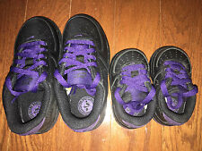 NIKE Air Force 1 TD Black PURPLE Toddler Baby Infant 314194-025 Shoes Sneakers