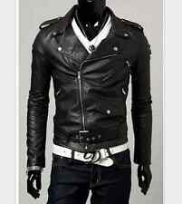 Mens Jackets Pu Leather  Man Motorcycle Jackets zipper Designers Windproof Coats