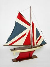 Model Ship ship model Wood Sailing Yacht Yacht Union Jack USA Boat Sea New