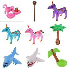 Multicolored Inflatable Animal Plane Tree Model Pool Blow Up Toy Kid Party Favor