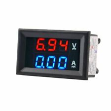 DC 100V 10A Voltmeter Ammeter Blue+Red LED Amp Dual Digital Volt Meter Gauge QW