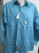 NWT Mens Size 16, Sleeve 32/33 Dress Shirt by Arrow, Fitted or Classic, Aqua