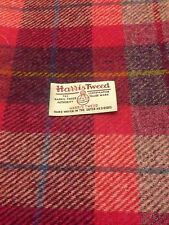Harris Tweed Fabric & labels 100% wool Deep Pink check - ideal for craft
