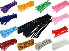 """Pipe Cleaners Chenille Craft Stems 30cm 12"""" Lots of Colours Pipe cleaner"""