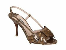 IB2161-MIU MIU Sandali vernice marrone DONNA WOMEN'S brown Patent pumps heels