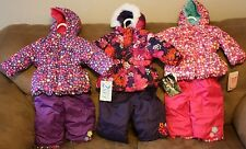 New With Tags! 6 M Months Baby Girl 2 Piece snow suit! Bon Bebe! Pacific Trail!