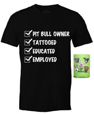 PIT BULL GEAR Checkmark Tattoo Pit Bull Owner Mens' Tee & Can Holder-2 Piece Set