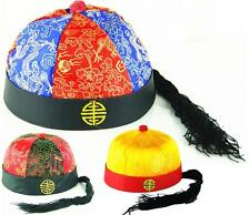 New Chinese Japanese Oriental Qing Dynasty Prince Boys Ponytail Attached Hat