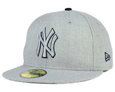 New York Yankees New Era MLB Heather League Basic 59FIFTY Fitted Hat Cap NWT