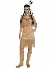 Ladies Wild West Indian Lady Sqauw Native American Fancy Dress Costume