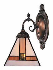 Symmetrical Mix-N-Match 1-Light Tiffany-Style Wall Sconce by ELK Lighting