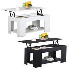 Modern Tea Table Lift Up Top Coffee Table Interior Storage Space Furniture NEW