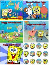 EDIBLE CAKE IMAGE & CUPCAKES SPONGEBOB BIRTHDAY & MORE PARTY ICING SHEET TOPPER