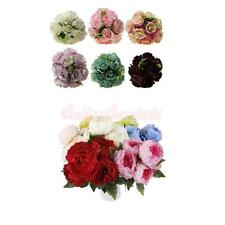 1 Bunch Wedding Artificial Silk Hydrangea Posy Flower Bouquet Home Party Decor