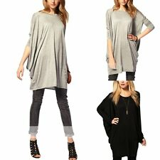 Fashion Womens Batwing Long Sleeve OverSize T Shirt Casual Loose Tops Blouse NEW