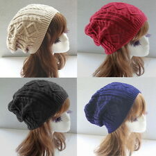 Fashion Womens Ladies Warm Winter Knit Crochet Xmas Ski Cap Beanie Beret Hat EW